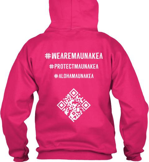 #We Are Maunakea #Protectmaunakea #Alohamaunakea Heliconia T-Shirt Back