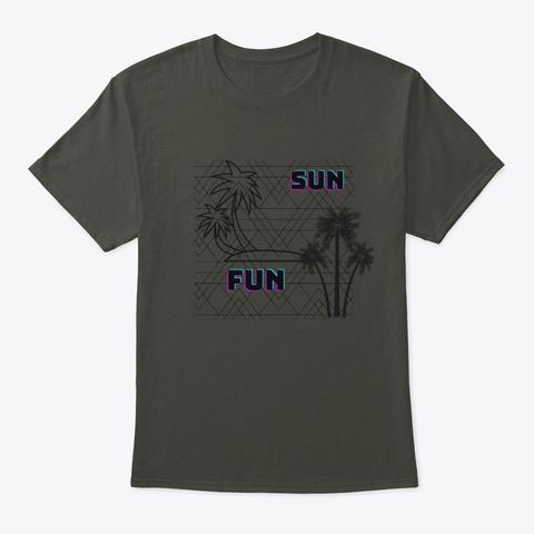 Sun Fun Smoke Gray T-Shirt Front