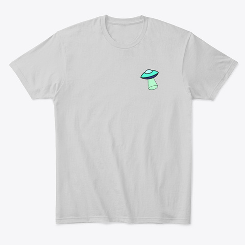 Qfo   Ufo Light Heather Grey  T-Shirt Front