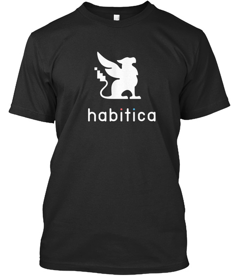 Habitica  Black T-Shirt Front