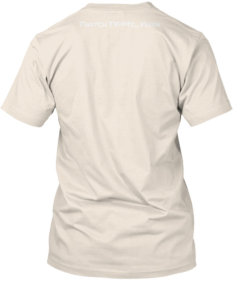 Twitch.Tv/Ms Vixen Banana Cream T-Shirt Back