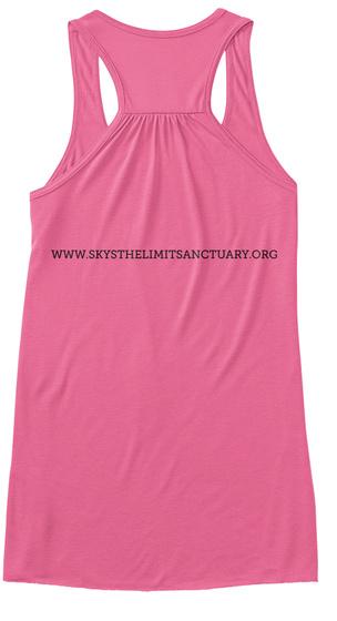 Www.Skysthelimitsanctuary.Org Neon Pink Women's Tank Top Back