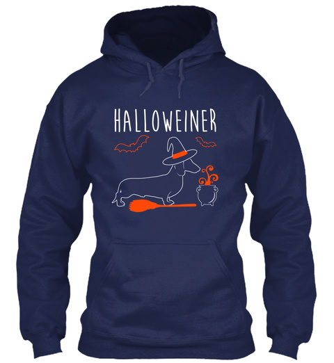 Halloweiner Navy Sweater Front
