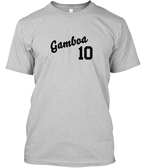 Gamboa Varsity Legend Light Steel T-Shirt Front