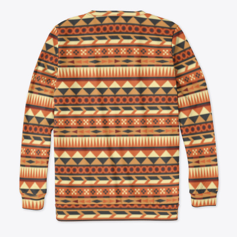 Aztec Pattern In Orange Red Brown Yellow Standard T-Shirt Back