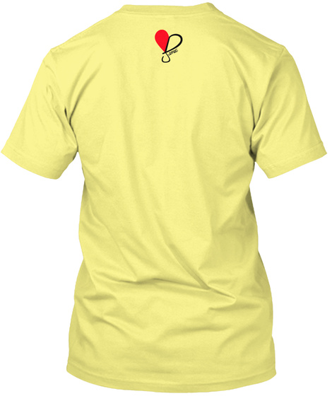 Your Words Hold Weight Lemon Yellow  T-Shirt Back