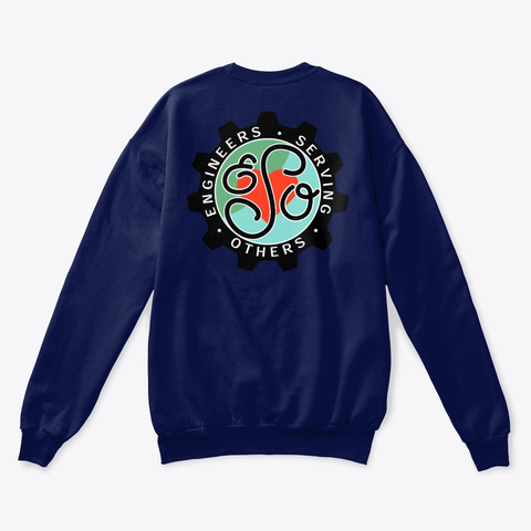 Engineers Serving Others Crewneck Navy  T-Shirt Back