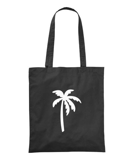 Palm Tree Black T-Shirt Front