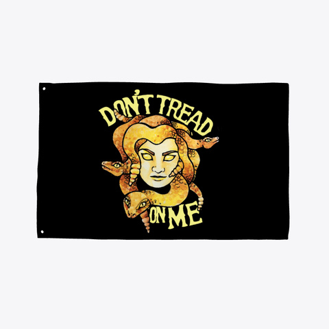 Don't Tread On Me Medusa Black T-Shirt Front