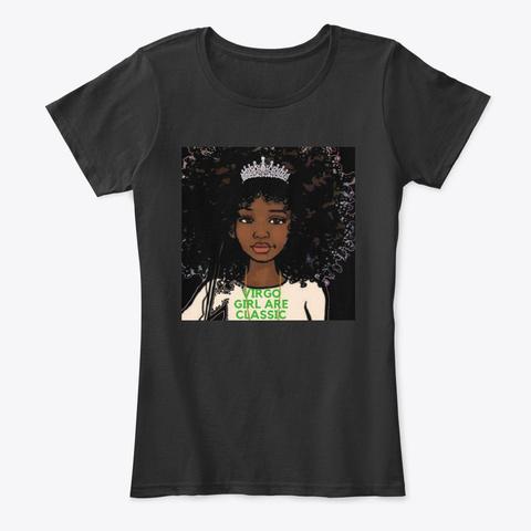 Virgo September Girl Classic♍ Black Women's T-Shirt Front