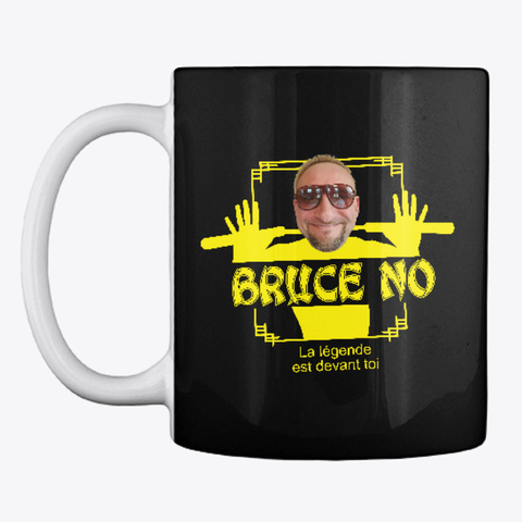 Mug Bruce No Black T-Shirt Front