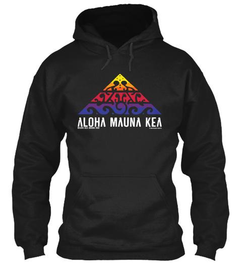 Aloha Mauna Kea Black T-Shirt Front
