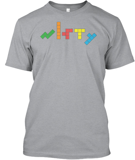 Nifty Pentominoes Heather Grey T-Shirt Front