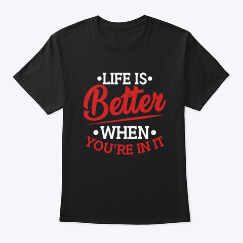 Sobriety Life Is Better Black T-Shirt Front