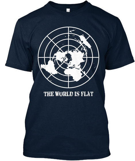 The World In Flat New Navy T-Shirt Front