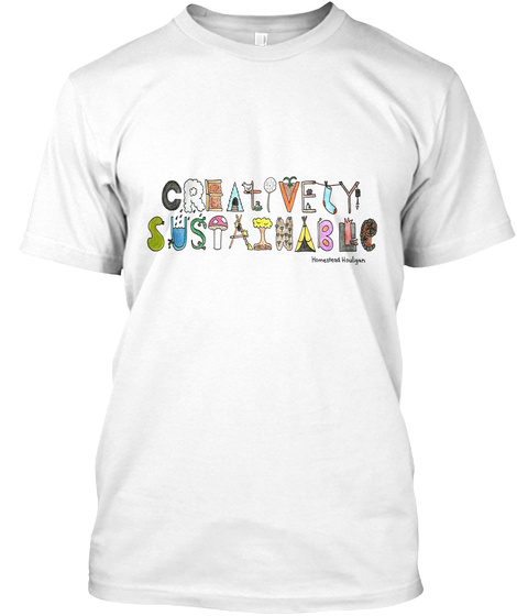 Creativity Sustainable White T-Shirt Front