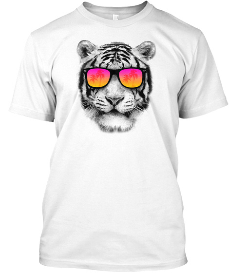 The Coolest Tiger White T-Shirt Front
