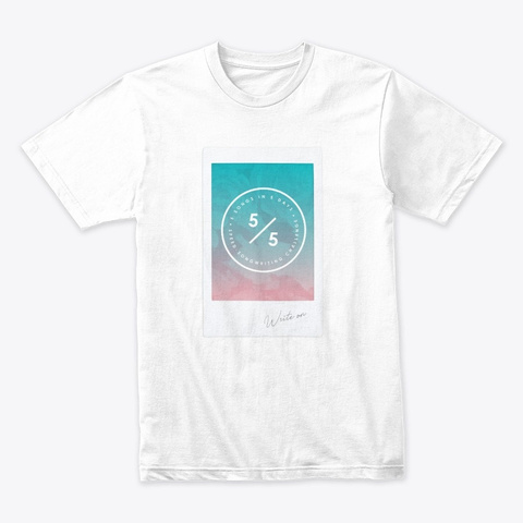 Faded Photograph Logo White T-Shirt Front