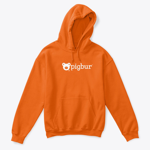 Pigbur Kids | Hoodie Orange T-Shirt Front
