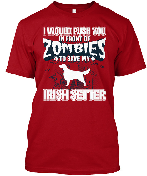 Irish Setter Deep Red T-Shirt Front