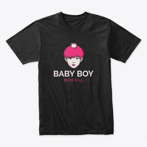Japanese Aesthetics, Cute Baby Boy! Black T-Shirt Front