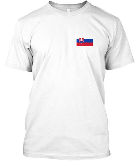 Slovak Flag White T-Shirt Front