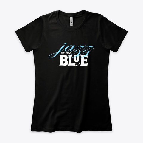 Jazz At The Blue Black T-Shirt Front
