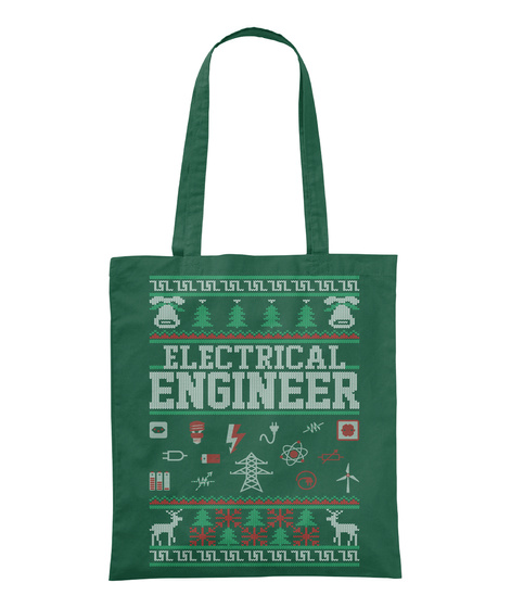 Electrical Engineer Bottle Green T-Shirt Front