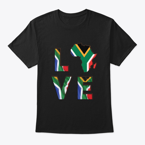 Africa Love African American History Black T-Shirt Front