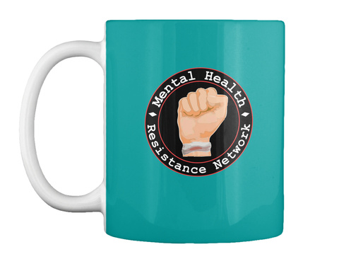 Help Get Mhrn  Podcasts Started Aqua Mug Front
