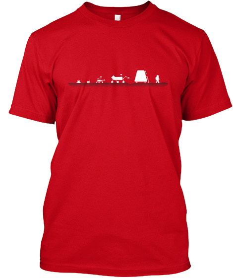 Evolution Of A Martian [Usa] #Sfsf Red T-Shirt Front