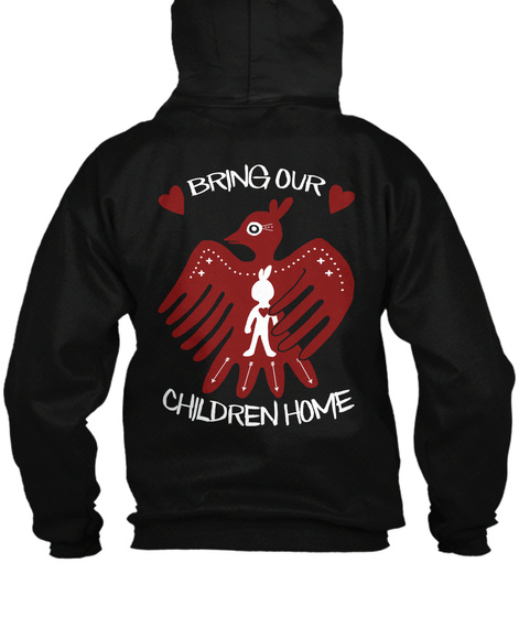 Bring Our Children Home Black T-Shirt Back