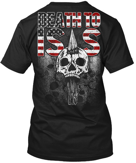 Infidel Death To Iss Black T-Shirt Back