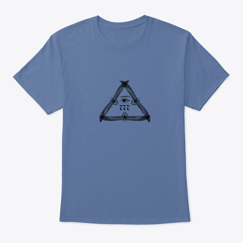 Wings777 Denim Blue T-Shirt Front