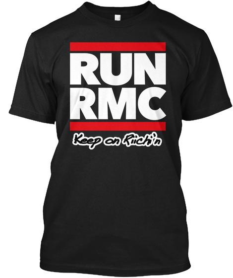 Run Rmc Keep On Riichi'n Black T-Shirt Front