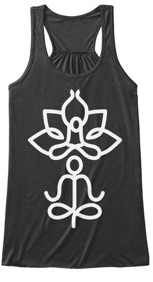 Yoga Meditation! Dark Grey Heather T-Shirt Front