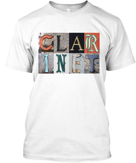 Clarinet White T-Shirt Front