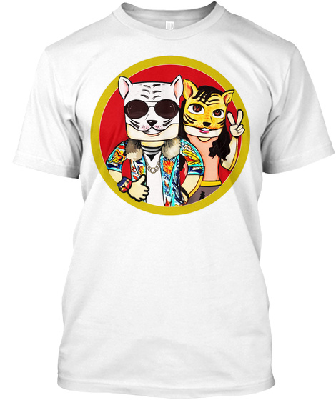 Camiseta Do  Canal Gatão E Tigran Lindas White T-Shirt Front
