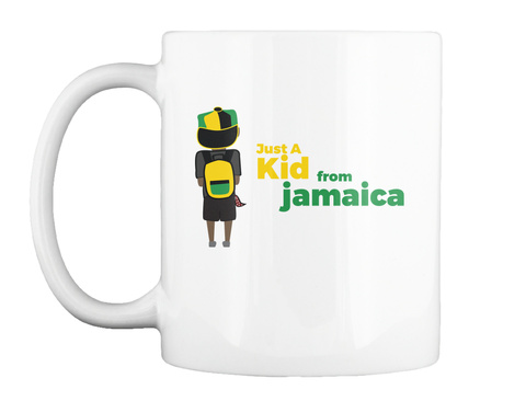 Just A Kid From Jamaica White T-Shirt Front