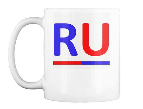 Ru Logo White T-Shirt Front