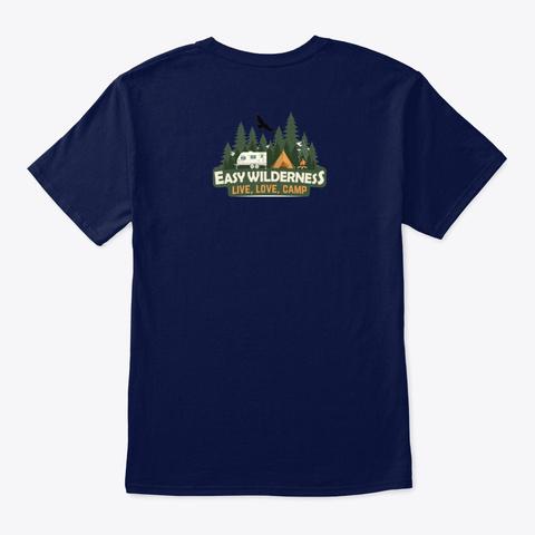 Easy Wilderness Logo Navy T-Shirt Back