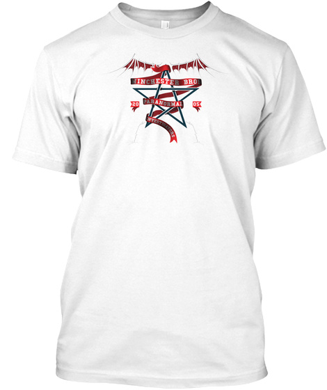 Winchester Bros Paranormal Investigators T Shirt White T-Shirt Front