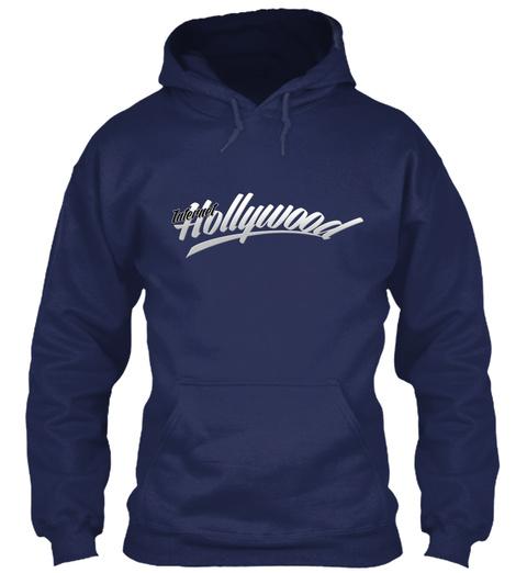 Ih Gildan 8oz Heavy Blend Hoodie Navy Sweatshirt Front