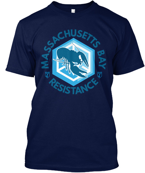 Mass Bay Resistance T Shirt/Hoodie Navy T-Shirt Front