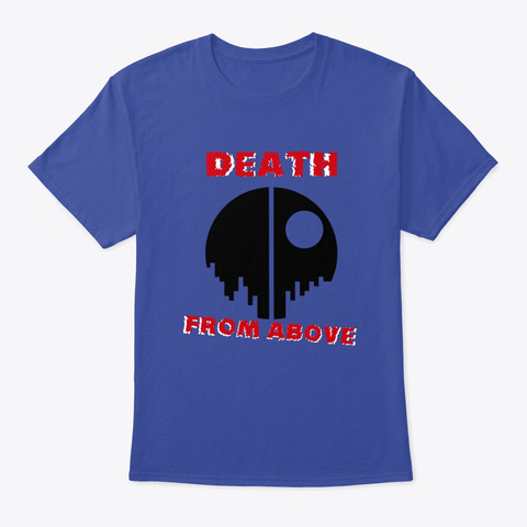 Death From Above Deep Royal T-Shirt Front