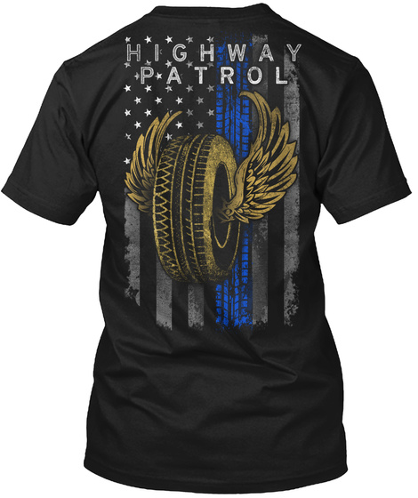 Highway Patrol Black T-Shirt Back