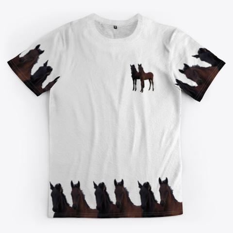 Friesian Horses 'lianne & Jacobien' Standard T-Shirt Front