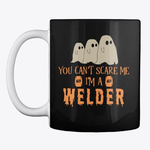 Welder Halloween Mug Black Mug Front