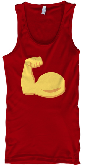 Never Give Up Tank Top Red T-Shirt Front