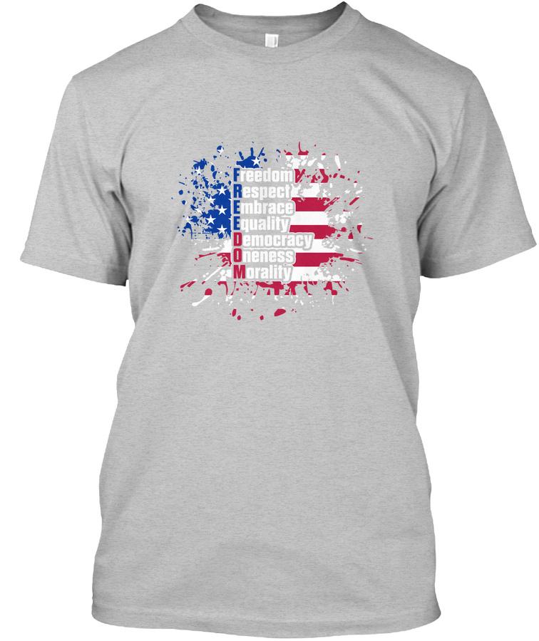 Freedom Colors Graphic T shirt Tees Unisex Tshirt